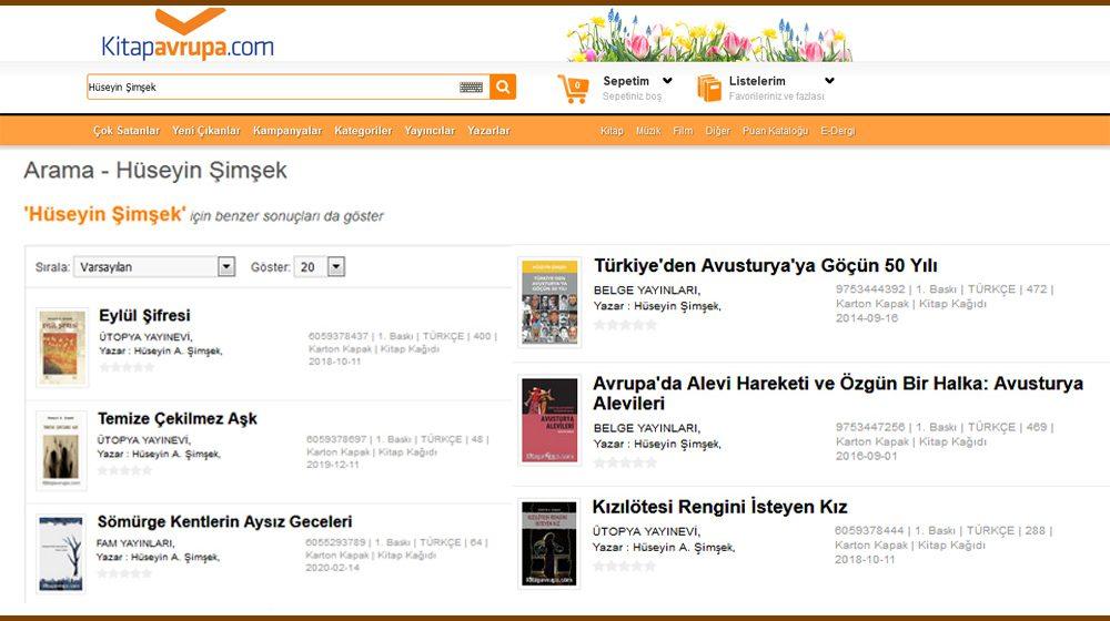 Kitapların, Avrupa'da bulunabileceği kitapevleri